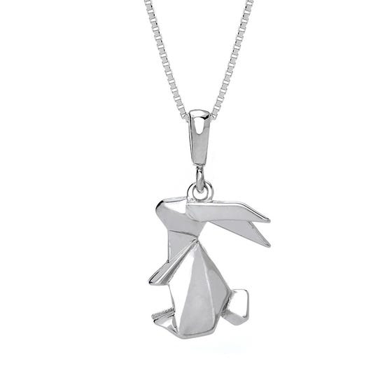 Bunny Rhodium Plated Silver Necklace