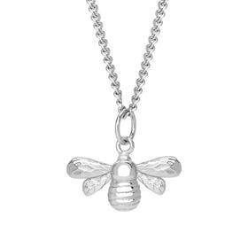Meadow Silver Bee Necklace