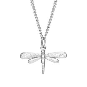 Meadow Silver Dragonfly Necklace