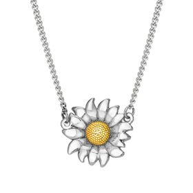 Serre Silver Sunflower Necklace