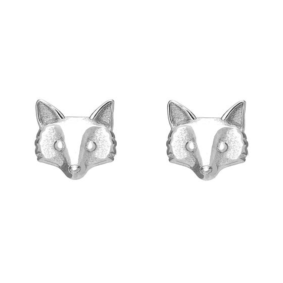 Wald Silver Fox Stud Earrings
