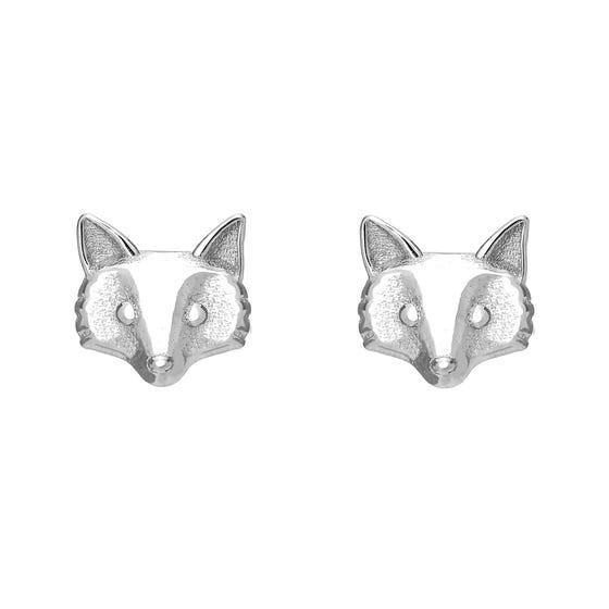 Wald Silver Fox Stud Earrings
