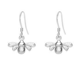 Meadow Silver Bee Drop Earrings
