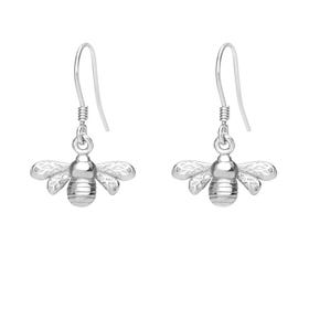 Meadow Silver Bee Drop Earrings