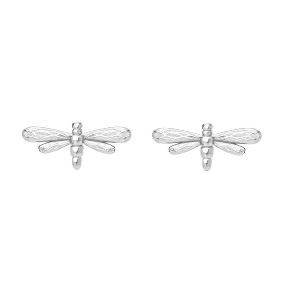 Meadow Silver Dragonfly Stud Earrings