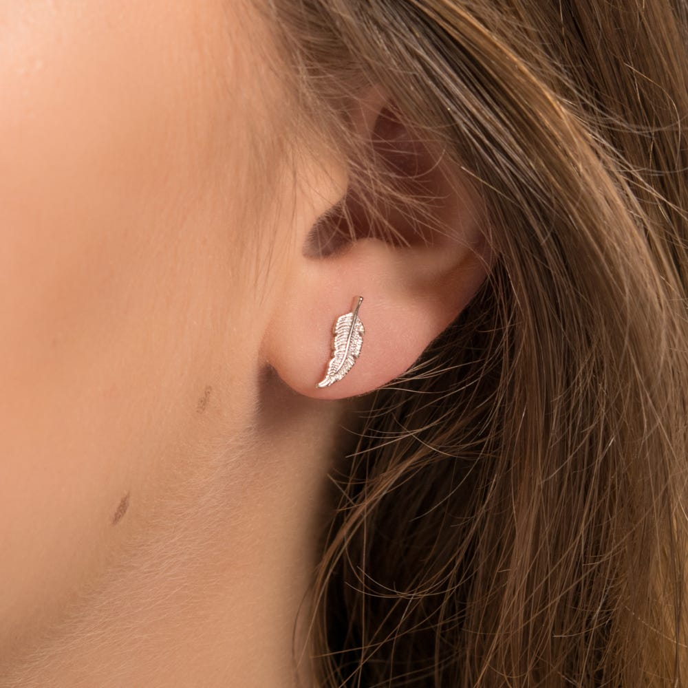 6cb5fd38d Candy by John Greed Desert Silver Feather Stud Earrings