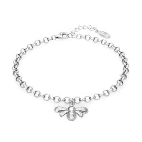 Meadow Silver Bee Bracelet