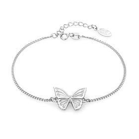 Meadow Silver Beautiful Butterfly Bracelet