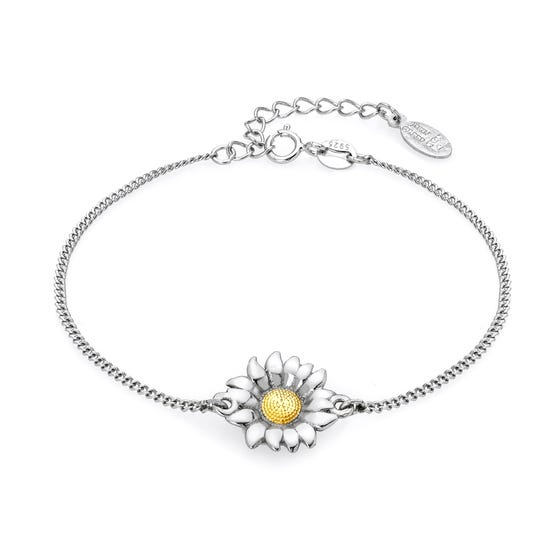 Serre Silver Sunflower Bracelet