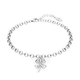 Desert Silver Clover Bracelet