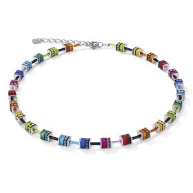 Geo Cube Rainbow Glints Multicoloured Necklace