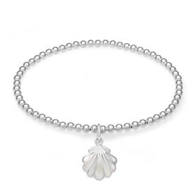 Cove Silver & Mother of Pearl Seashell Bracelet