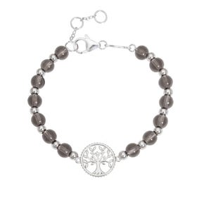 Wald Silver & Quartz Tree of Life Bracelet
