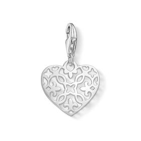 Arabesque Heart Charm Pendant