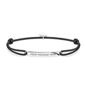 Rebel Black Engravable Bracelet