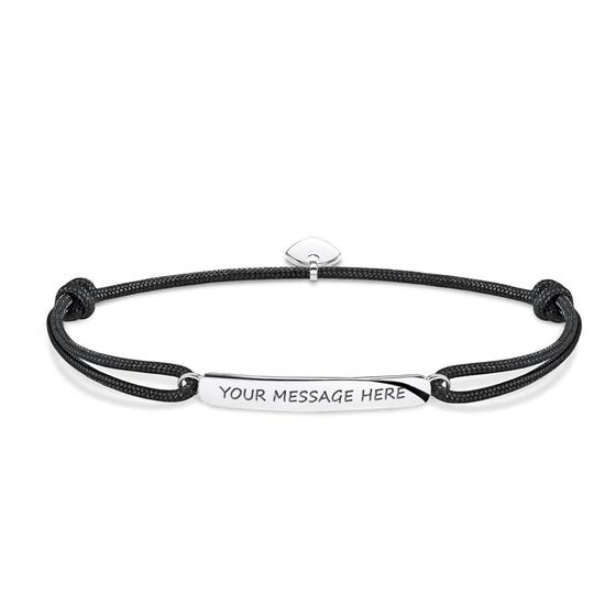 Rebel Black Engravable Bracelet