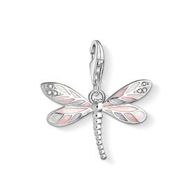 Pink Dragonfly Charm