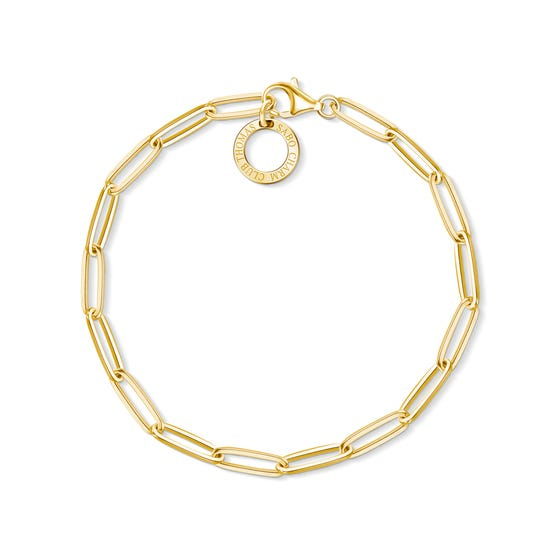18ct Gold Plated Charm Club Bracelet