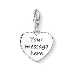 Charm Club Engravable Silver Heart Charm