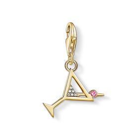 Gold Plated Cocktail Glass Charm