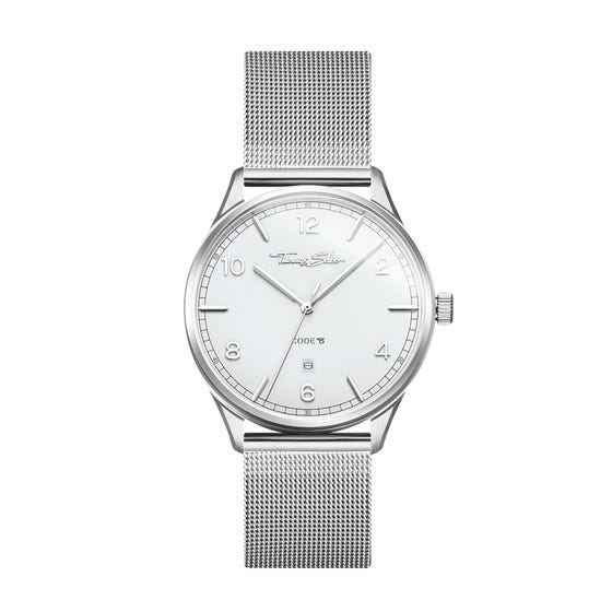 Glam & Soul White Face Watch