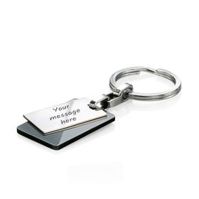 Stainless Steel Black PVD Keyring