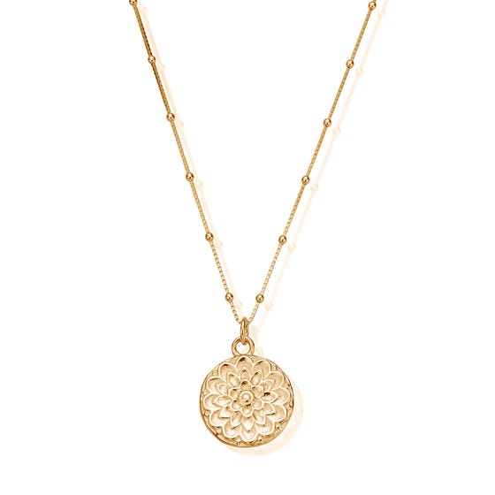 Gold Plated Moon Flower Necklace
