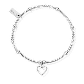 Silver Cute Mini Open Heart Bracelet