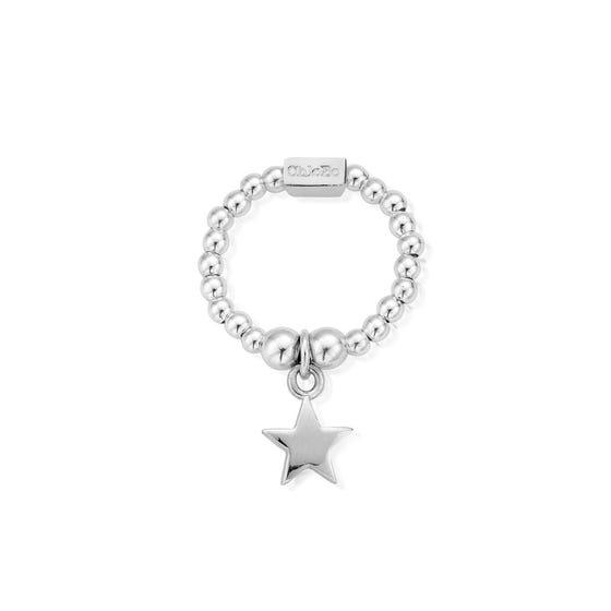 Silver Mini Star Ring