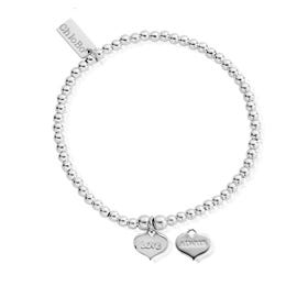 Silver Cute Charm Love Always Bracelet