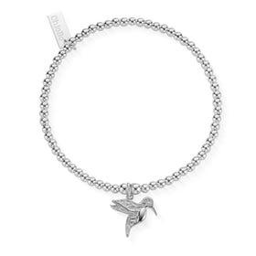 Silver Cute Charm Hummingbird Bracelet