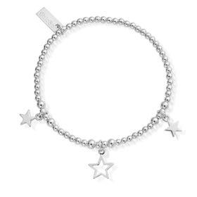 Silver Triple Star Bracelet