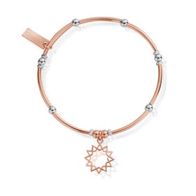 Rose Gold Plated & Silver Wishful Soul Star Bracelet