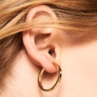 Gold Plated Grand Malai Hoop Earrings