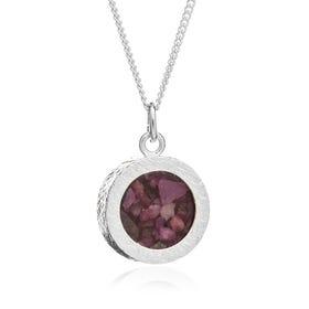 Silver Ruby July Birthstone Amulet Necklace