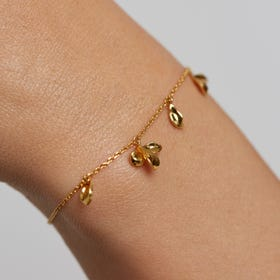 Gold Plated Jasmine Flower Bracelet