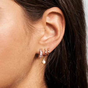 Gold Plated Lumiere Hoop Earrings