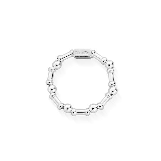 Silver Rhythm Of Water Ring