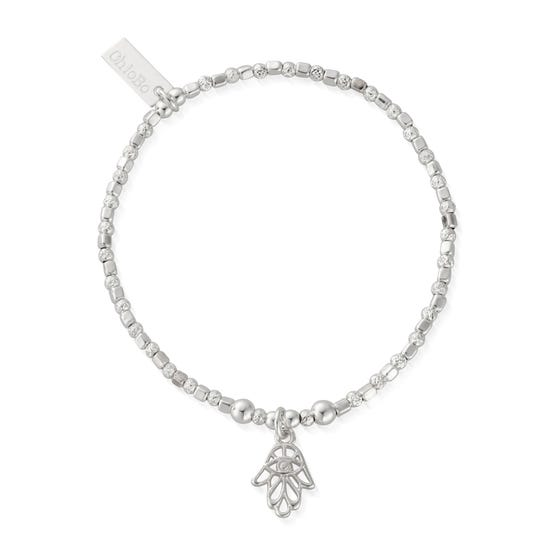 Silver Hand Of Protection Bracelet