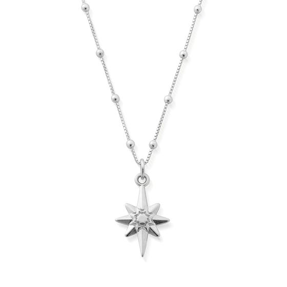 Silver Bobble Chain Lucky Star Necklace
