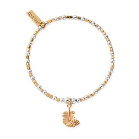 Gold Plated & Silver Folded Feather Bracelet