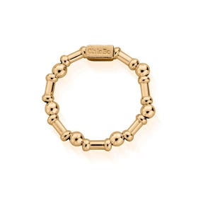 Gold Plated Rhythm Of Water Ring