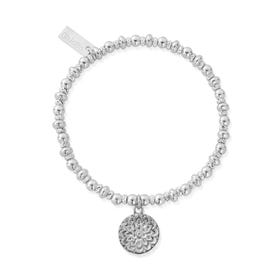 Silver Didi Sparkle Moon Flower Bracelet