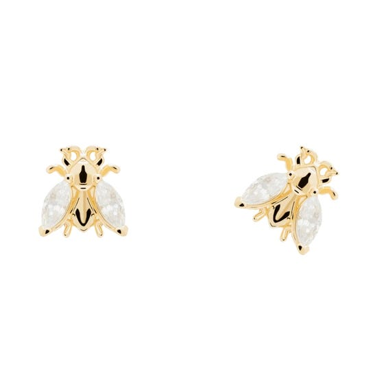 Gold Plated Buzz Stud Earrings