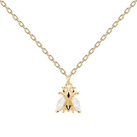 Gold Plated Buzz Necklace
