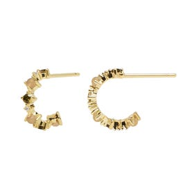 Gold Plated Glory Hoop Earrings