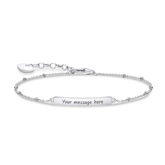 Silver Dots Classic Bar Bracelet