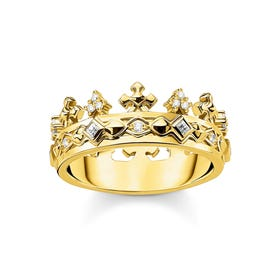Gold Plated Royal Crown Ring