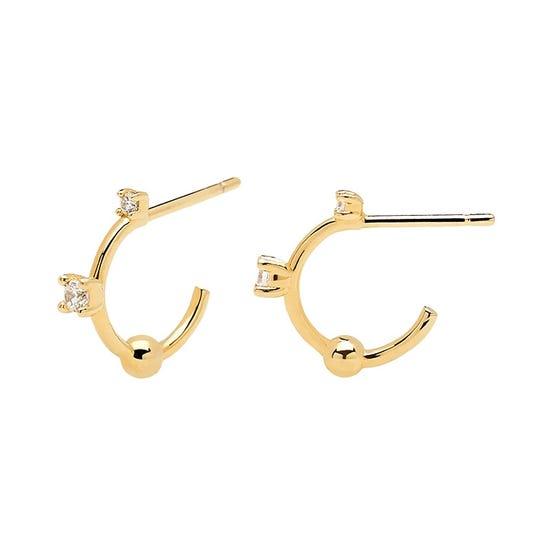Gold Plated Kaya Hoop Earrings