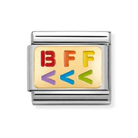 Classic Gold BFF Left Arrow Charm
